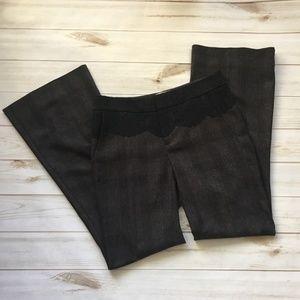 Elevenses The Brighton Wide Leg Lace Plaid Pants